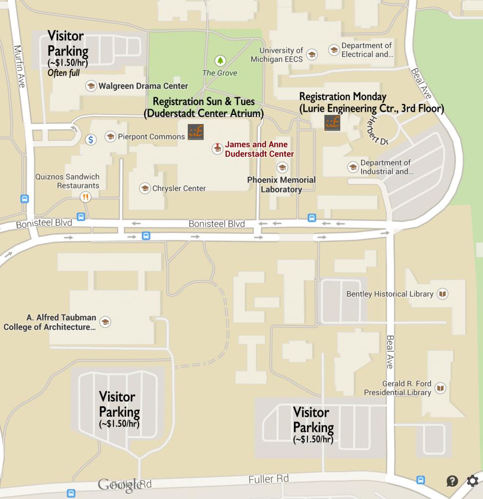 North campus parking 2017
